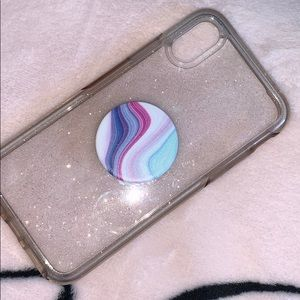 Sparkly Otterbox phone case iPhone XS & popsocket